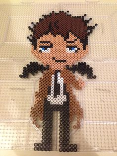 Castiel from the TV show Supernatural perler beads by Jenny Long