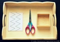 Cutting activity tray