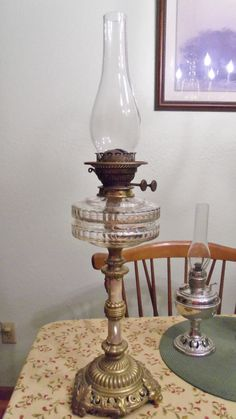 Antique MOP Double Wick Oil Lamp by Spiritracer on Etsy, $130.00