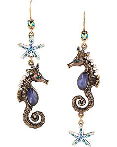 INTO THE BLUE SEAHORSE DROP EARRING MULTI accessories jewelry earrings fashion