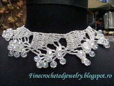 Crystal Crochet Jewelry www.finecrochetedjewelry.blogspot.ro