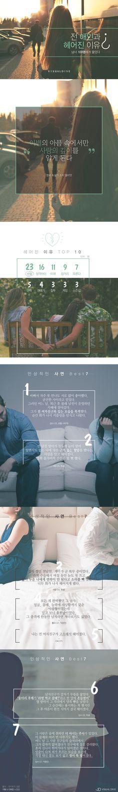 """""""너 왜 헤어졌어?"""" 말할 수 없는 비밀 '이별의 이유' [인포그래픽] #lovebye / #Infographic ⓒ 비주얼다이브 무단 복사·전재·재배포 금지"""