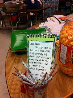 Second Grade Silliness: T is for Testing and Treats