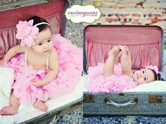 photo shoot idea for 6 month old girl | month old session