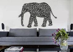 Tribal Elephant - Wall Decals Vinyl Art Sticker