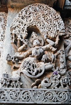 Madanika or Dancing girl under Foliage Buddha Sculpture, Stone Sculpture, Hindu Temple, Indian Temple, Dancing Ganesha, Asian Sculptures, Buddha Painting, Indian Art Paintings, Indian Folk Art