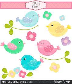 bird clip art Digital clip art for all use. Birds by petittatti