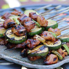 Chicken and Zucchini Yakitori Recipe