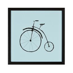 Bicycle Wall Art, Blue, Framed Wall Poster Print ($45) ❤ liked on Polyvore featuring home, home decor, wall art, blue, framed wall art, interior wall decor, bicycle wall art, blue home accessories and bike home decor