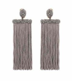 Clip-on tassel earrings | Oscar de la Renta