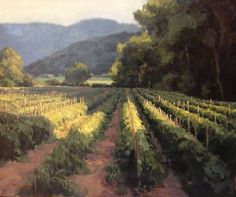 KATE STARLING, Tomato Patch Under the Blue Ridge (oil, 20x24).