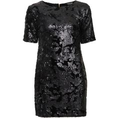 TOPSHOP Sequin and Velvet Dress by None, via Polyvore