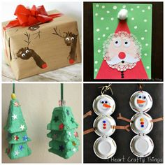 """Oh what Fun : 16 Easy Kids Christmas Crafts. Want to make """"Olaf"""" snowmen using this idea, also really like the thumbprint candy canes. Kids Crafts, Holiday Crafts For Kids, Preschool Christmas, Christmas Activities, Toddler Crafts, Winter Christmas, Christmas Holidays, 242, Theme Noel"""