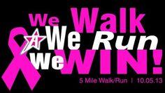 Athleader's Breast Cancer Run/ Walk 5 Miler - October 5,2013 - Stone Mountain Park