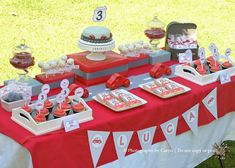 Cool cars birthday party decorations for s ideas route 3 red car cake uk bi Car Themed Parties, Cars Birthday Parties, Birthday Party Decorations, Teen Parties, Birthday Themes For Boys, 3rd Birthday, Birthday Ideas, Birthday Table, Birthday Cupcakes