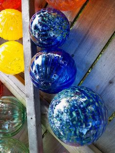 Cobalt blue garden orb