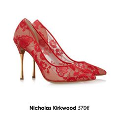 Escarpins en dentelle Nicolas Kirkwood