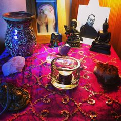 Reiki Healing Altar for our Reiki Attunement day