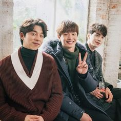 Goblin gong yoo, yook sungjae and lee dong wook Korean Boy, Korean Star, Asian Actors, Korean Actors, Korean Dramas, Lee Dong Wook Goblin, Goblin Gong Yoo, Goblin Korean Drama, Goblin Kdrama