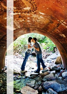 love this idea for an engagement photo session :)
