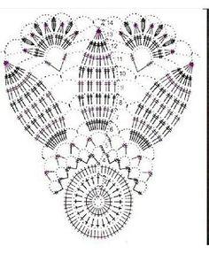 Crocheted motif no. Crochet Doily Diagram, Crochet Doily Patterns, Crochet Mandala, Filet Crochet, Crochet Motif, Crochet Designs, Crochet Doilies, Crochet Flowers, Crochet Leaves