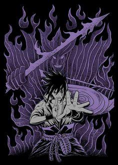 "Sasuke ""Senjutsu Susanoo"" (仙術須佐能乎, Literally meaning: Sage Technique He with the ability to help by all means), with markings reminiscent of the Cursed Seal of Heaven Sasuke Uchiha, Anime Naruto, Susanoo Naruto, Wallpaper Naruto Shippuden, Naruto Shippuden Sasuke, Naruto Wallpaper, Manga Anime, Boruto, Super Anime"