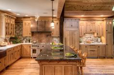 [ Mission Style Kitchens Designs Photos Craftsman Style Kitchen Traditional Kitchen Kustom Home ] - Best Free Home Design Idea & Inspiration Craftsman Kitchen, Rustic Kitchen, New Kitchen, Kitchen Ideas, Ranch Kitchen, Country Kitchen, Knotty Pine Kitchen, Craftsman Decor, 1960s Kitchen