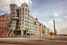 Photograph The Dancers by Kirill Zmurciuk on Tower, Street View, Dancers, Building, Photograph, Travel, Inspiration, Prague, Photography