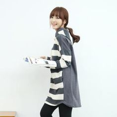 Hooded Stripe Pullover from #YesStyle <3 Soneed YesStyle.com