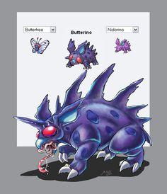 Pokemon fusion by nalintj
