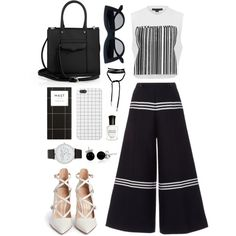 Make it Monochrome by bechs on Polyvore featuring polyvore, fashion, style, Alexander Wang, Baum und Pferdgarten, Gianvito Rossi, Rebecca Minkoff, Bling Jewelry, ALDO and Deborah Lippmann