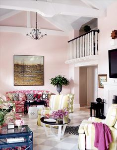Romantic Style Living Room Design decorating before and after interior design design home design Home Design, House Design Photos, Cool House Designs, Modern House Design, Modern Interior Design, Design Ideas, Rooms Home Decor, Room Decor, White Kitchen Floor