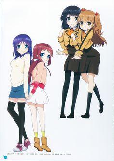Nagi no Asukara | Maeda Risou | P.A. Works / Mukaido Manaka, Hiradaira Chisaki, Shiodome Miuna, and Hisanuma Sayu