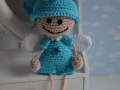 Amigurumi Little Elf Angel-Free Pattern Crochet Gifts, Crochet Dolls, Crochet Baby, Amigurumi Doll, Amigurumi Patterns, Crochet Patterns, Crochet Angels, Crochet Rabbit, Crochet Decoration