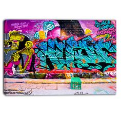 Designart - Street Art Melbourne - Graffiti Canvas Art Print