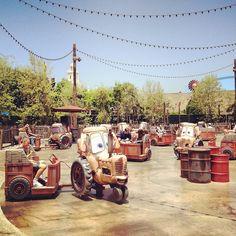 mater's junkyard jamboree in disneyland's california adventure, cars land