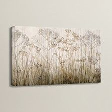 'Wildflowers Ivory' Print of Painting on Canvas