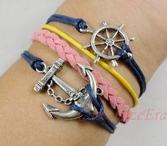 Anchor bracelet rudder bracelet  braid bracelet by CustomizeEra, $4.99