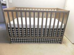 Butler Life: Baby Bedding No Sew adjustable crib skirt