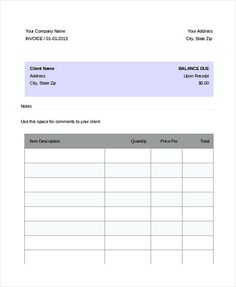 Google Invoice Template Free  Download Invoice Template Google
