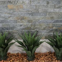 Rustic stone-look cladding is ideal for indoors or outdoors #Tiles #HomeDesign #Stonelook #Cladding