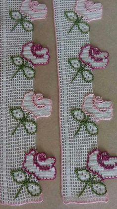 Thread Crochet, Love Crochet, Crochet Doilies, Button Hole Stitch, Cushion Embroidery, Flower Chart, Crochet Embellishments, Sock Dolls, Crotchet Patterns