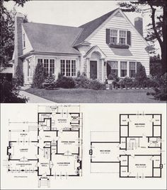 1920s Vintage Home Plans - The Collingwood - Standard Homes Company - Modern American Colonial Style