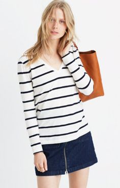 Women's Tees & More : Nautical, Drape & V-neck Tees | Madewell.com