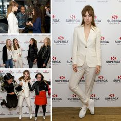 On Saturday the lucky winners of our Superga competition came to London to the private screening of Love, Rosie, hosted by model and actress Suki Waterhouse.  Screened in The Hospital Club, an exclusive, members only venue, the winners got some great pictures with her and had a catch up before they went in to view the film in which she stars Superga Sneakers, Suki Waterhouse, Great Pictures, Kicks, Suit Jacket, Actresses, Stylish, Formal, Chic