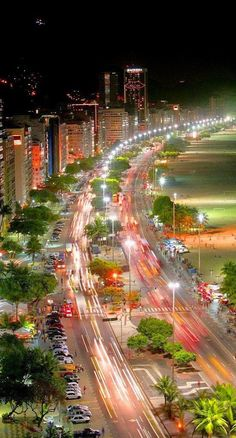 Copacabana at night, Rio de Janeiro, Brazil 20 takes off #airbnb #airbnbcoupon #riodejaneiro #copacabana #beaches #travel #ilhagrande #brazil #carnival #olympics