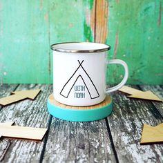 Personalised Enamel Mug - Personalised Dadventures Enamel Mug - Camping Mug - Personalised Camping Mug