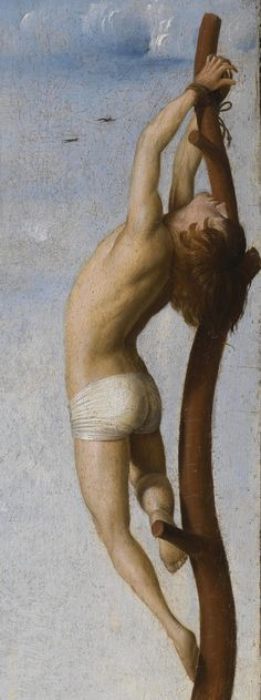 Antonello da Messina (1430–1479) - Calvary. Crucifixion with Saint Mary and Saint John Evangelist. Detail.