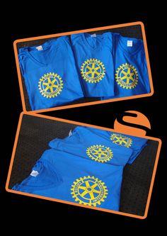 Voor Rotary International hebben we deze leuke shirts bedrukt met het logo!