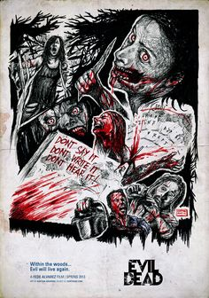 Evil Dead 2013 Drawing - by Karthik Abhiram